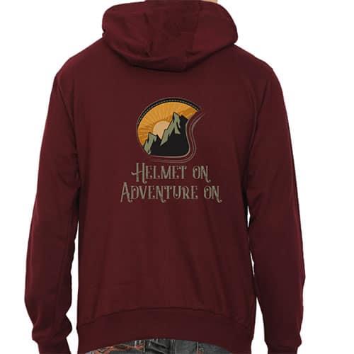 maroon male hoodie