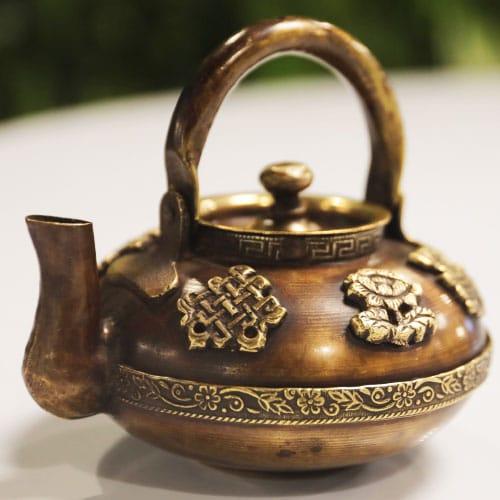 antique tibetan kettle