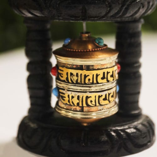 buddhist wall mounting prayer wheel
