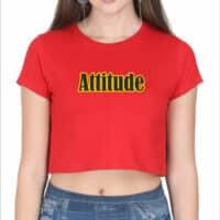 crop top- attitude-red