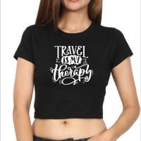 Crop Top travel therapy - black