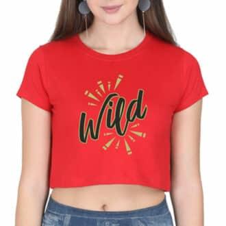 crop top wild red