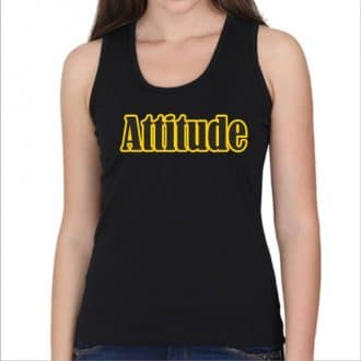 tank top- attitude - black