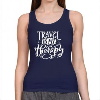 tank top- travel therapy- nevy blue