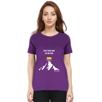 female premium tshirt-purple-been there now