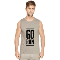 grey - go run- mens sleeveless tshirt