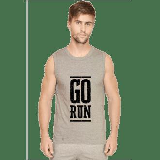 grey - go run- mens sleeveless tshirt