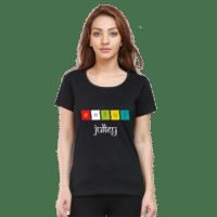 julley - black female premium tshirt