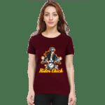 rider chick - female premium tshirt maroon