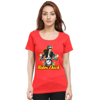 rider chick - red female premium tshirt