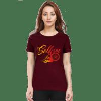 maroon selfism premium female tshirt