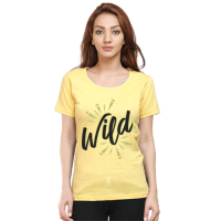 wild- black female premium tshirt
