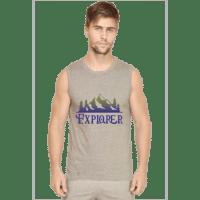 explorer - mens sleeveless- grey