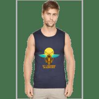 Navy- mens sleeveless tshirt- freedom machine