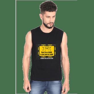 lama- black mens sleeveless tshirt