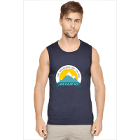 navy-mountain calling-sleeveless tshirt
