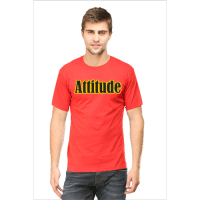 attitude-red premium tshirt