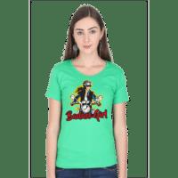 badass girl - green female premium tshirt