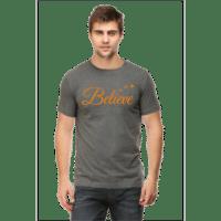 believe charcoal - male premium tshirt