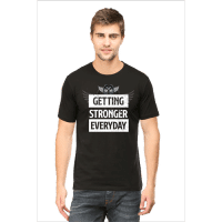 getting stronger - black male premium tshirt