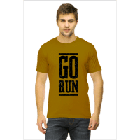 go run black - mustard male premium tshirt