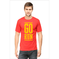 go run yellow - male red premium tshrit