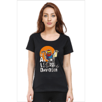 harley - black female premium tshirt