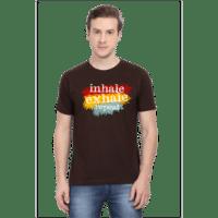coffee brown - inhale exhale female premium tshirt