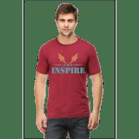 inspire - maroon male premium tshirt
