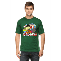 bottle green ladakh - male premium tshirt