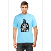 pack your bags- sky blue male premium tshirt