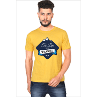 to travel is to live - yellow male premium tshirt