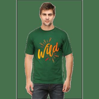 wild- bottle green male premium tshirt